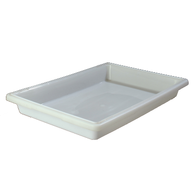 "Carlisle 1064002 StorPlus™ Food Storage Box, 5 gallon, 26""L x 18""W x 3-1/2""H, white, NSF, Made in USA, BPA Free"