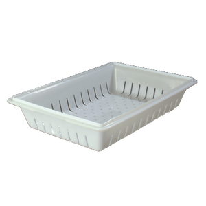 "Carlisle 1064802 StorPlus™ Colander, 26""L x 18""W x 5""H, rectangular, white, NSF, Made in USA"