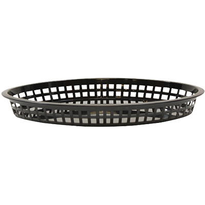 TableCraft Products 1086BK Texas Platter Oval Basket, Black