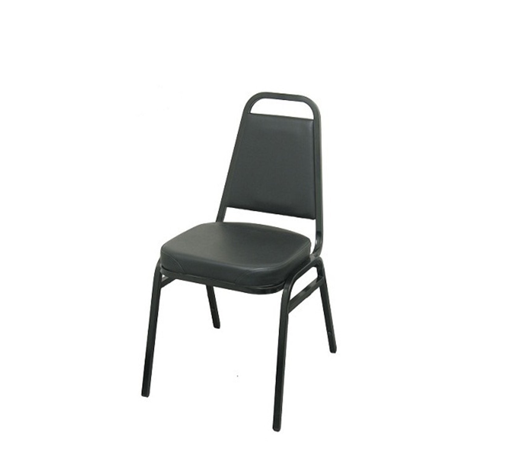 DHC 1110-BLK Black Finish, Steel Dining Chair, Black Vinyl Back & Seat