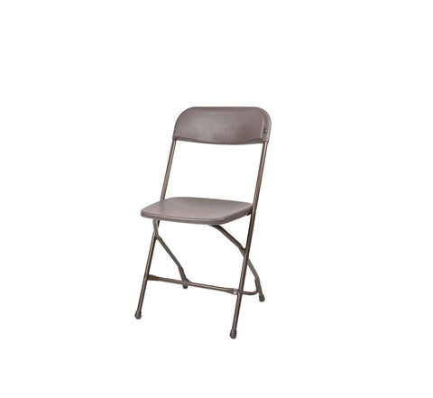 DHC 1116-BRW Folding Banquet Steel Chair, Brown Finish