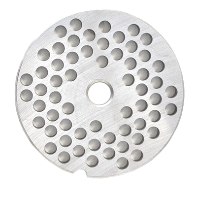 "Omcan USA 11222 European Style Machine Plate - Hubless, #22, 1/4"" (6mm), hard stainless steel"