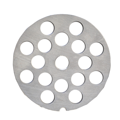 "Omcan USA 11225 European Style Machine Plate - Hubless, #22, 1/2"" (12mm), hard stainless steel"