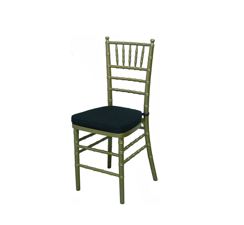DHC 1126 Aluminum Chiavari Chair, Cushion Seat
