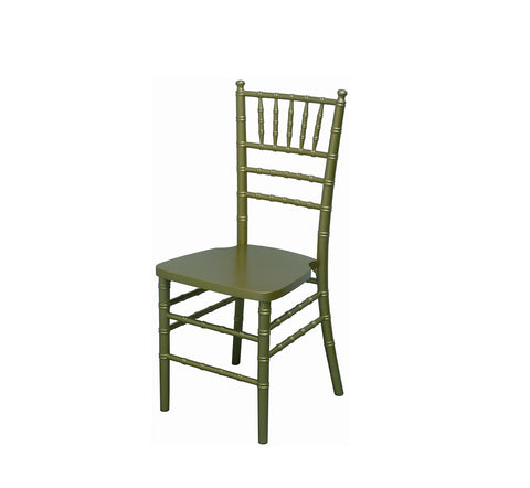 DHC 1126 Aluminum Chiavari Chair, Gold Finish