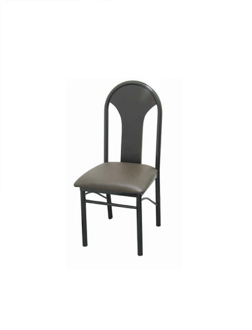 DHC 1243-BLK Black Powder Coated Steel Dining Chair, Black or Green Vinyl Back & Seat