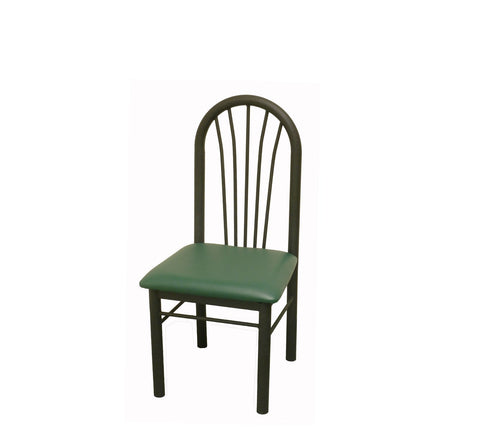DHC 1251-BLK Gloss Black Finish, Steel Dining Chair, Black or Green Vinyl Back & Seat