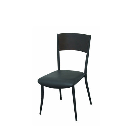 DHC 1269-BLK Chrome Finish Steel Chair