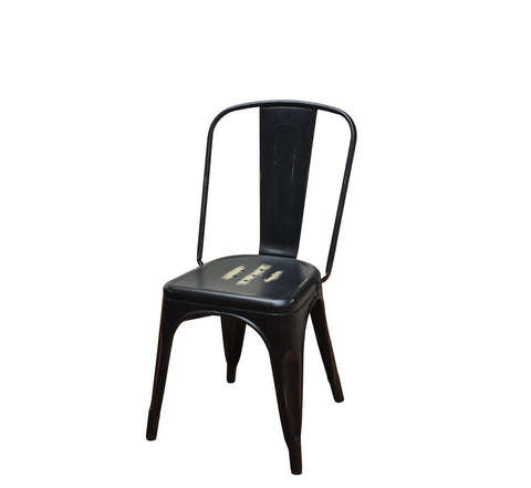DHC 1280-BLK Antique Black Finish, Steel Tolix Chair