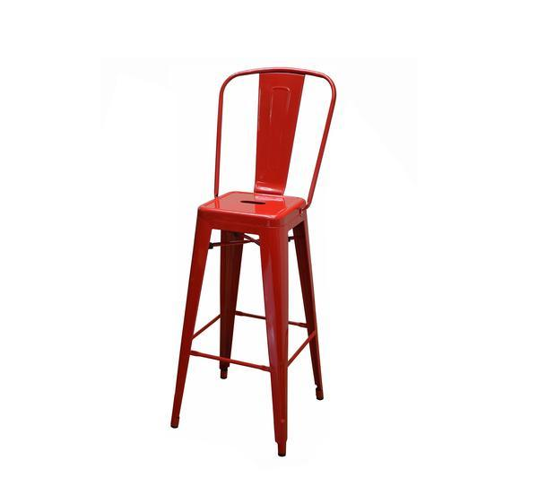 DHC 1280B Stack Steel Barstool, Red