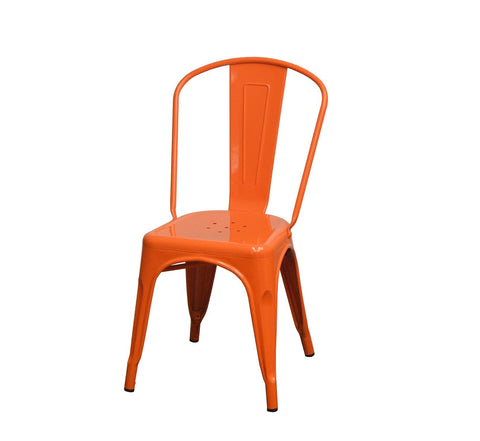 DHC 1280-ORG Steel Frame, Stack Tolix Chair, Orange Finish