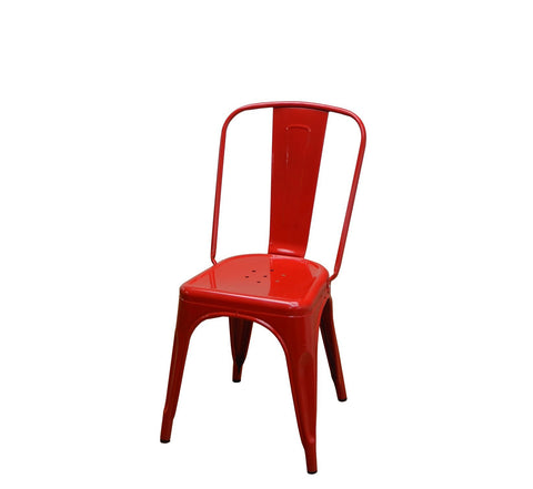 DHC 1280-RED Stack Steel Tolix Chair, Red