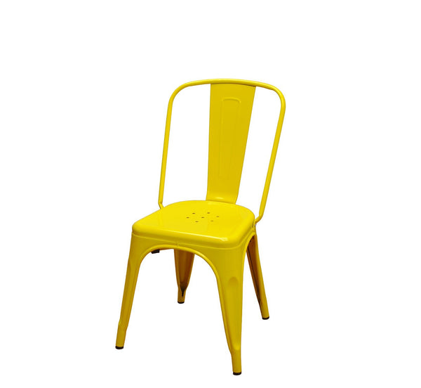 DHC 1280-YEL Stack Steel Tolix Chair, Yellow