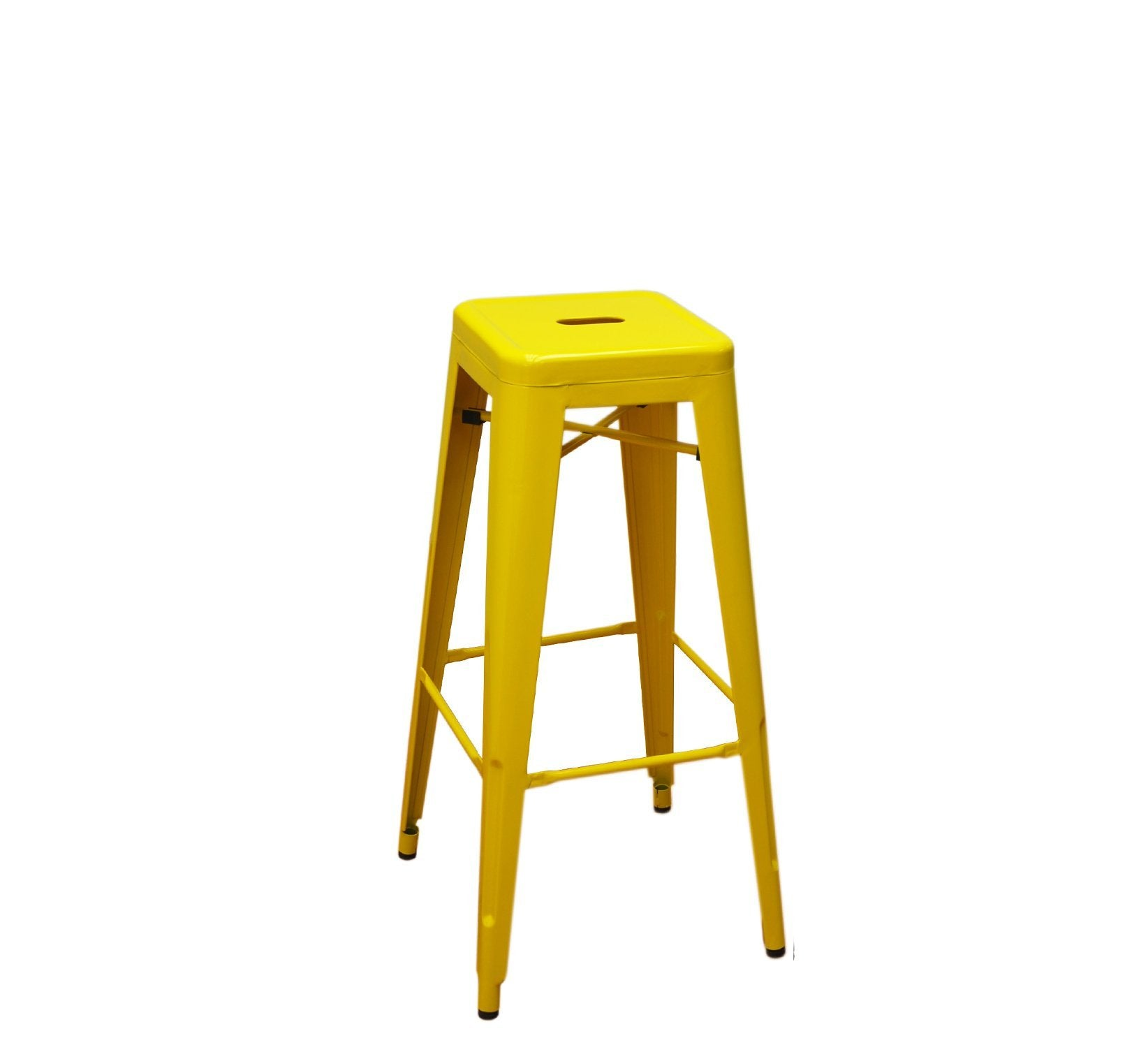 DHC 1281B-YEL Stack Backless Steel Tolix Stool, Yellow