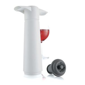 Spill-Stop 13-740 VacuVin® Wine Saver Set, includes pump with (1) rubber stopper, white