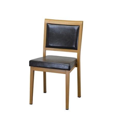 DHC 1420-NAT Steel Dining Chair, Natural Finish
