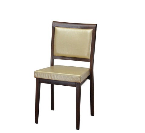 DHC 1420-WAL Walnut Finish, Steel Dining Chair