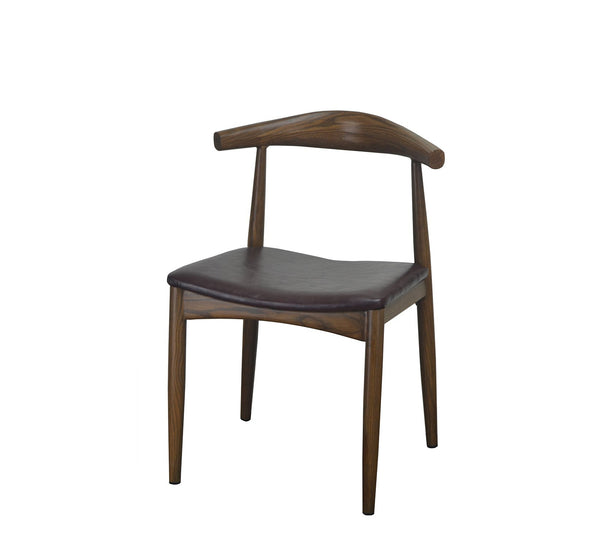 DHC 1425-D16 Light Walnut Finish, Steel Dining Chair