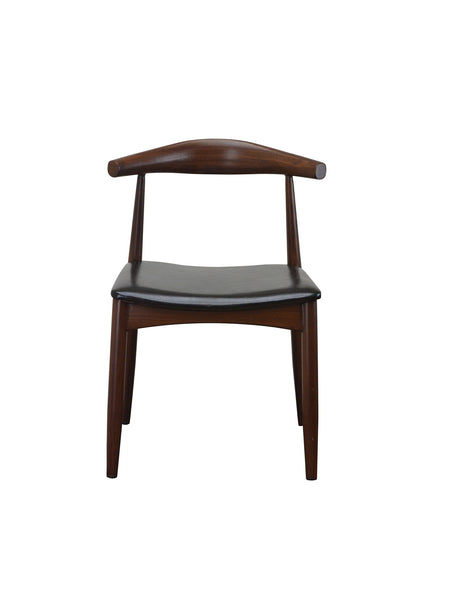 DHC 1425-WAL Walnut Finish, Steel Dining Chair