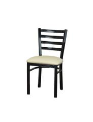 DHC 1445-GLS Ladder Back Steel Dining Chair, Gloss Black Finish