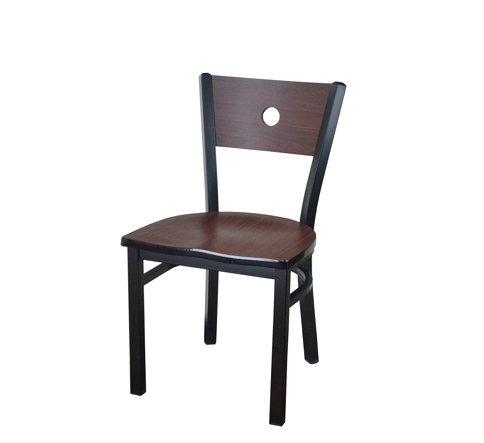 DHC 1449-D02 Matt Black Finish, Steel Dining Chair