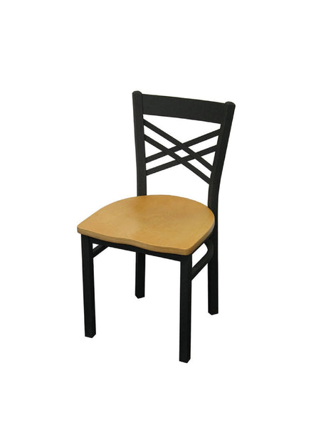 DHC 1459-MAT Matt Black Powder Coated Steel Dining Chair