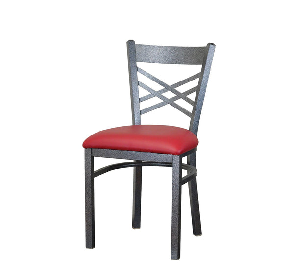 DHC 1459-SIL Silver Vein Powder Coated Steel Dining Chair