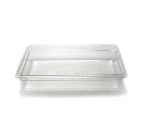 Cambro 14CW135 Camwear Food Pan, 13.7 qt. capacity, 4 deep, full size, polycarbonate, clear, NSF