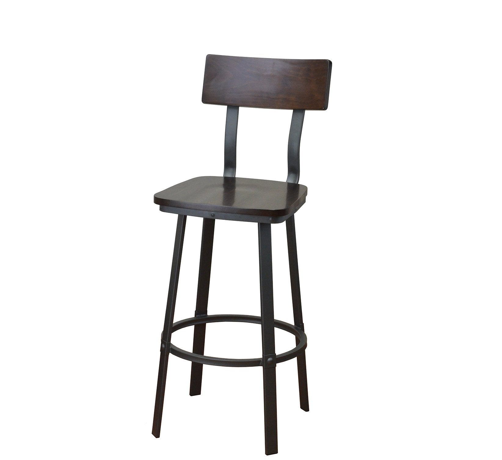 DHC 1544B Steel Barstool, Dark Grey Color Finish