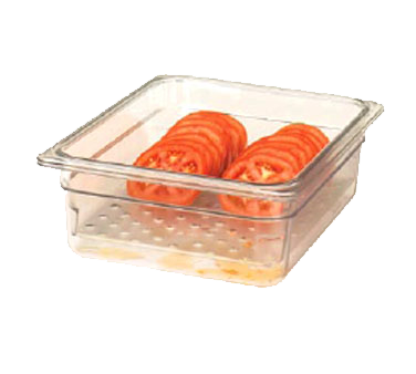 Cambro 15CLRCW135 Camwear Colander, 12-3/4 x 20-7/8 x 5 deep, fits 1/1 size food pans, polycarbonate, clear, NSF