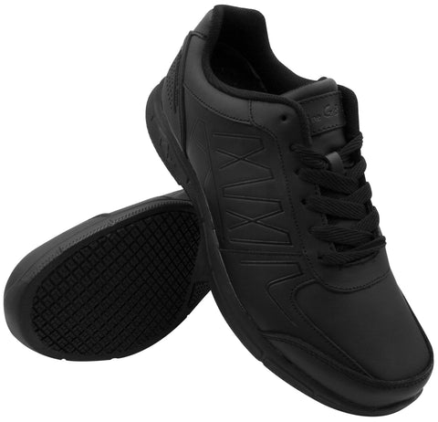 Genuine Grip 1600 Men's Athletic Style, Slip Resistant Work Shoes, Black