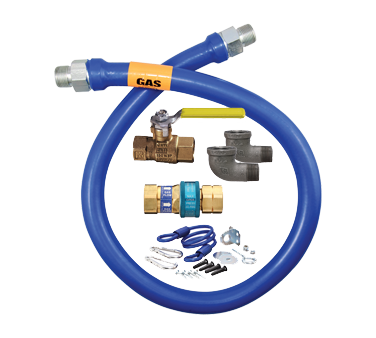 "Dormont 16100KIT48 Dormont Blue Hose™ Moveable Gas Connector Kit, 1"" inside diameter, 48"" long, limited lifetime warranty"