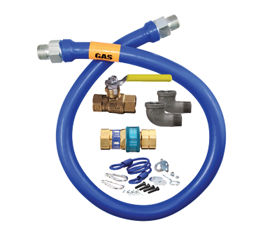 "Dormont 1675KIT48 Dormont Blue Hose™ Moveable Gas Connector Kit, 3/4"" inside diameter, 48"" long, limited lifetime warranty"