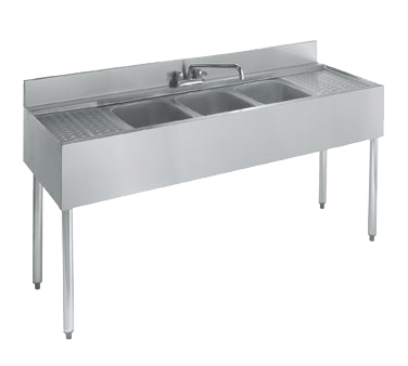 Krowne 18-53C Underbar Sink Unit, Three-Compartment, NSF