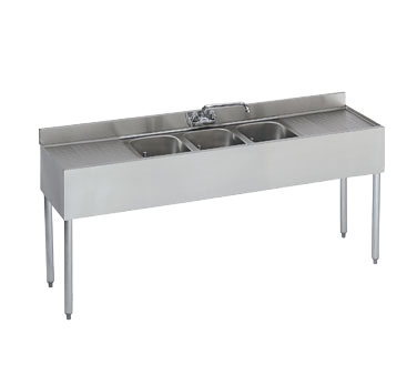 Krowne 18-63C Underbar Sink Unit, Three compartment, NSF