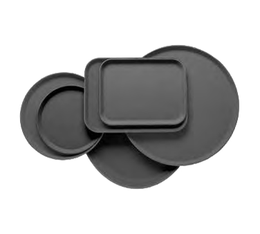 Cambro 1800CT100 Camtread Serving Tray, round 18 dia., dishwasher safe, fiberglass with non-skid surface, black satin, NSF