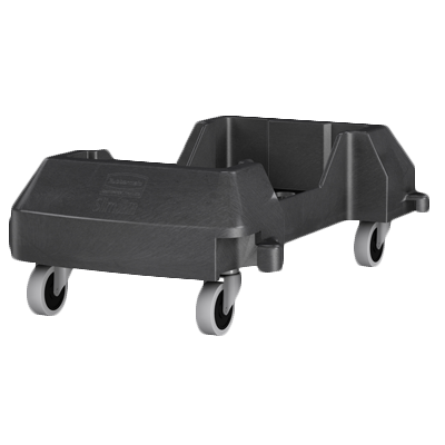 "Rubbermaid 1980602 Slim-Jim® Trolley, 23.9""L x 14.7""W x 8.4""H, black , Made in USA"