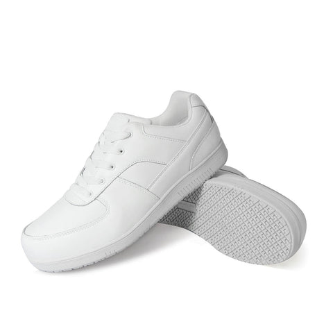 Genuine Grip 2015 Men's Sport Classic, Slip Resistant Work Shoes, White