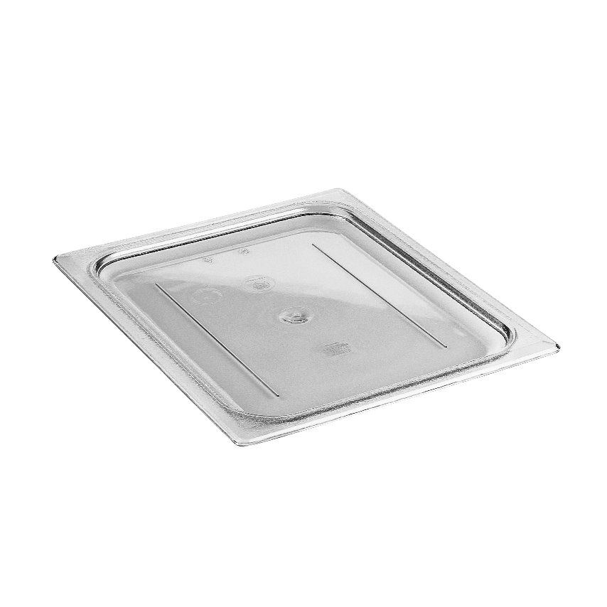 Cambro 20CWC135 Camwear Food Pan Cover, 1/2 size, flat, polycarbonate, clear, NSF