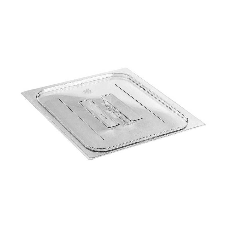 Cambro 20CWCH135 Camwear Food Pan Cover, 1/2 size, with handle, polycarbonate, clear, NSF
