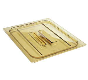 Cambro 20HPCH150 H-Pan Cover, 1/2 size, high heat, flat, with handle, -40F to 300F, non-stick surface, wont bend or dent, amber, NSF