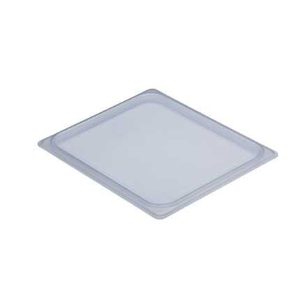 Cambro 20PPCWSC190 Camwear Food Pan Seal Cover, 1/2 size, 12-3/4L x 10-7/16W, material is safe from -40F to 160F -4C to 70C, polypropylene, translucent, NSF