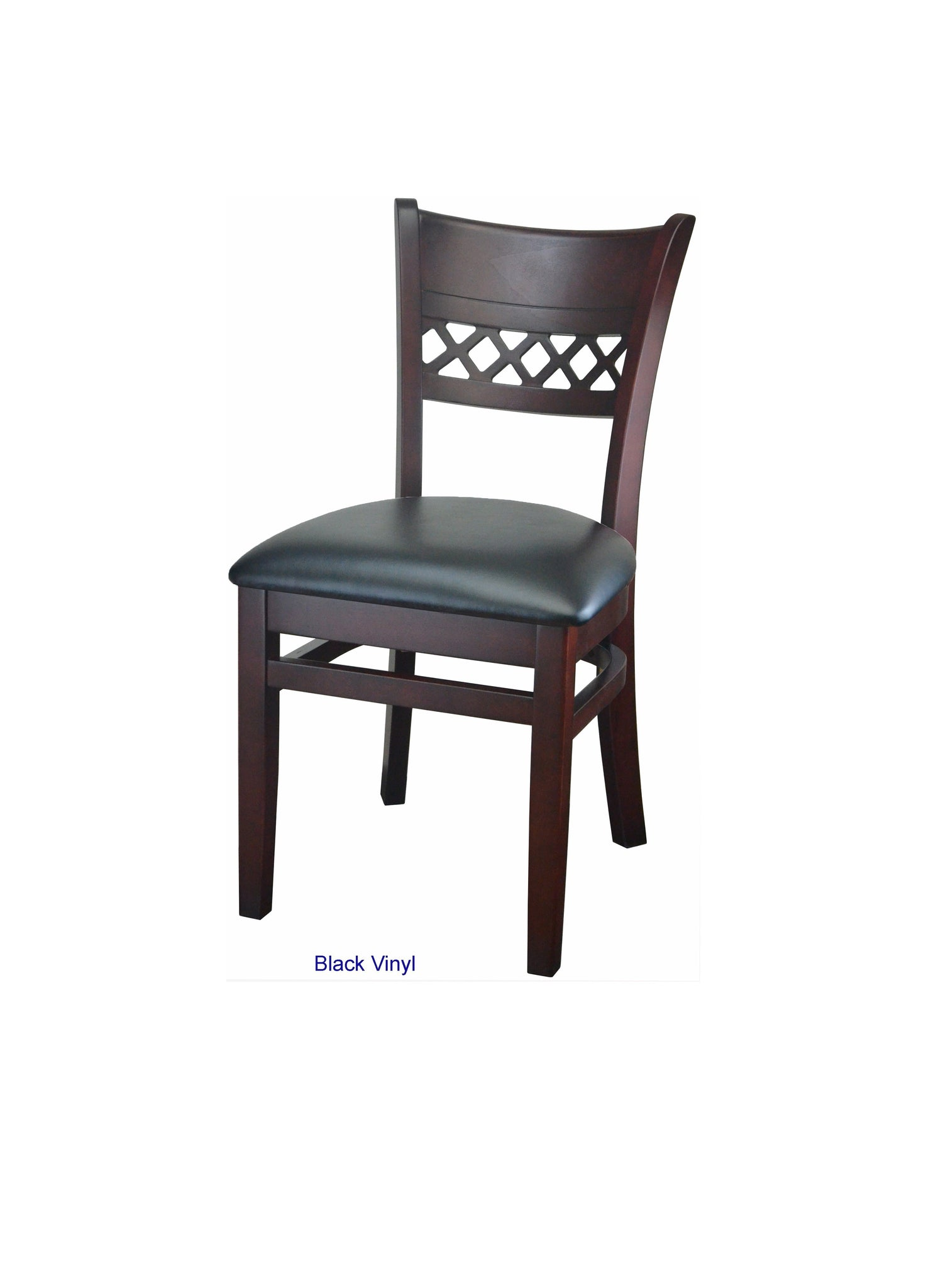 DHC 230-MAH Ma Lattice Back Wood Barstool