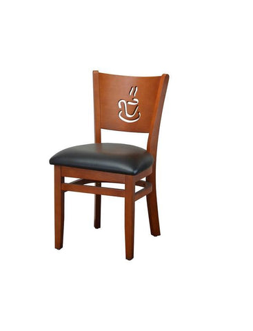 DHC 236-CHE Coffee Cup Wood Dining Chair for Restaurants, Café, Bistro