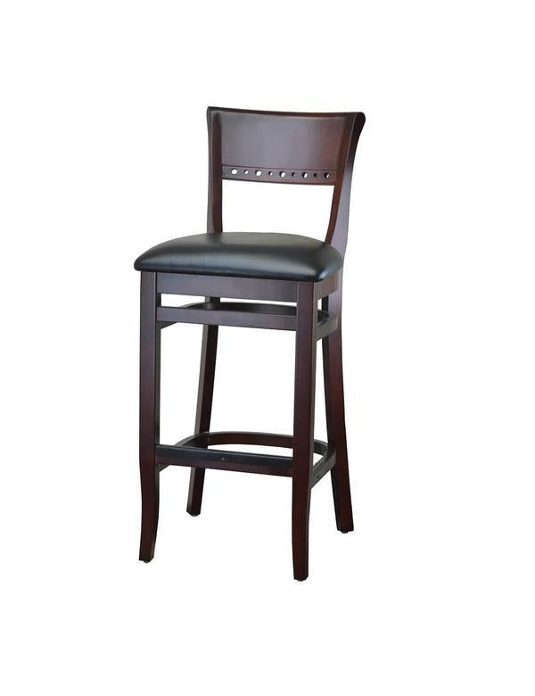 DHC 237B-MAH Mahogany Finish Beidermeir Wood Barstool