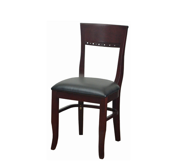 DHC 238-MAH Beidermeir Style Wood Dining Chair, Mahogany Wood Finish