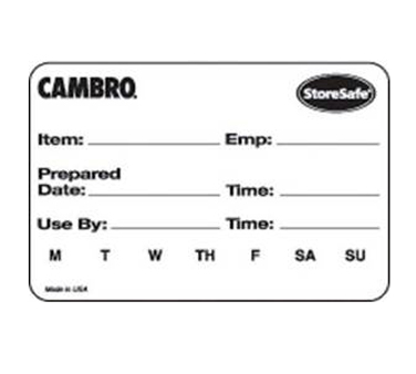 Cambro 23SL StoreSafe Food Rotation Label, White