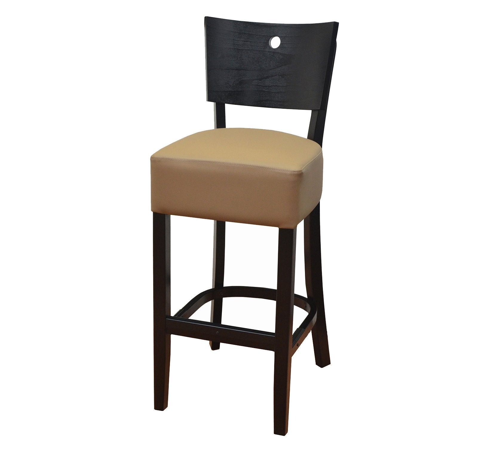 DHC 243B-BLK Black Finish, Designer Wood Barstool