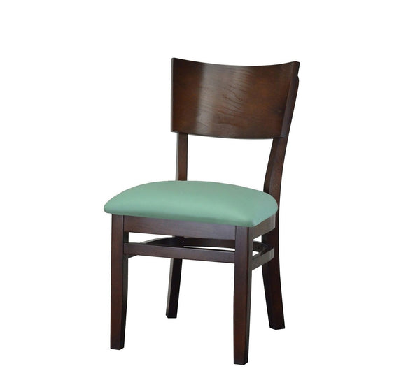 DHC 244-Wal Curved Back,  Walnut Finish, Wood Restaurant Chair
