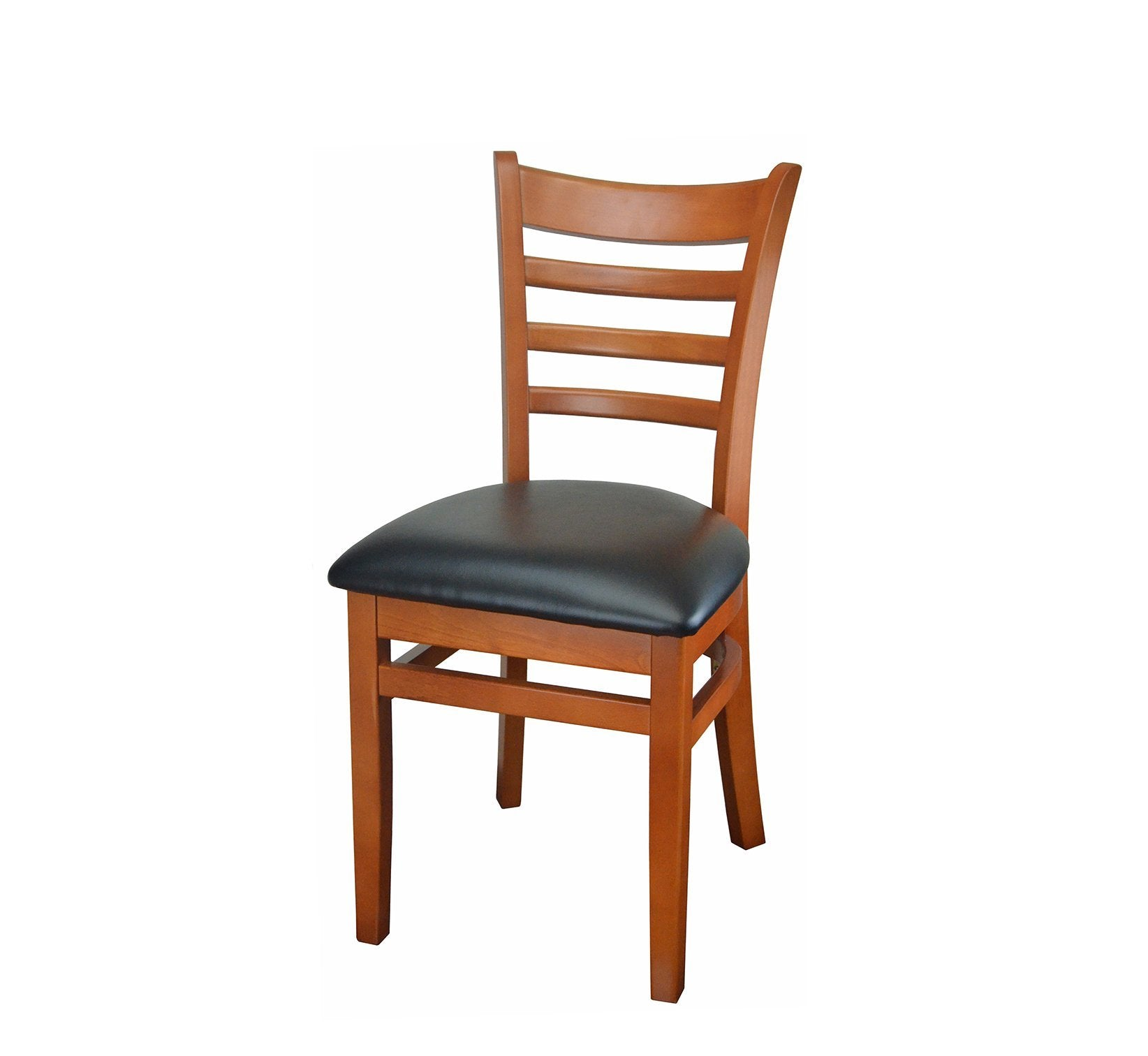 DHC 245-CHE Cherry Finish, Ladder Back Wood Dining Chair
